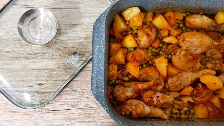 תבשיל עוף ותפוחי אדמה
