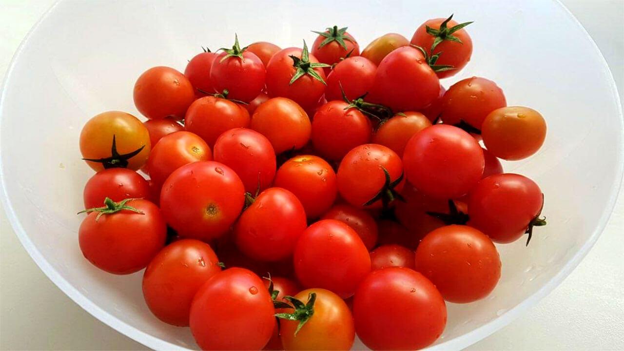 שני קילו עגבניות טריות