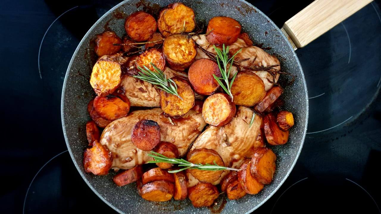 Chicken breast with sweet potato