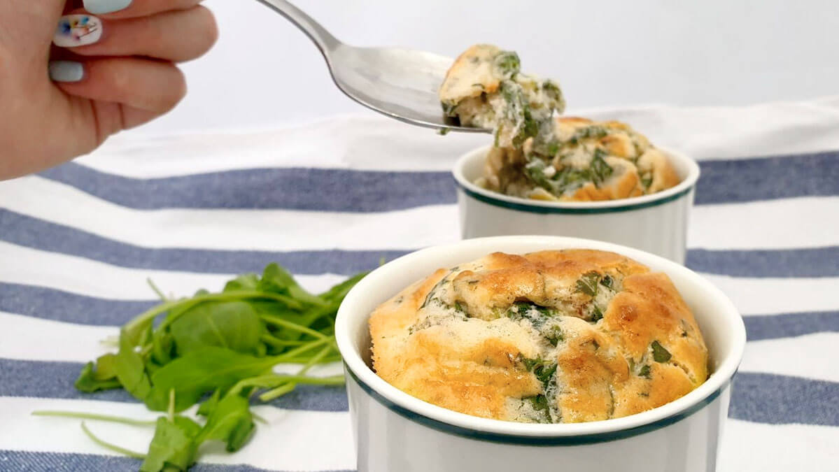 Soufflé spinach